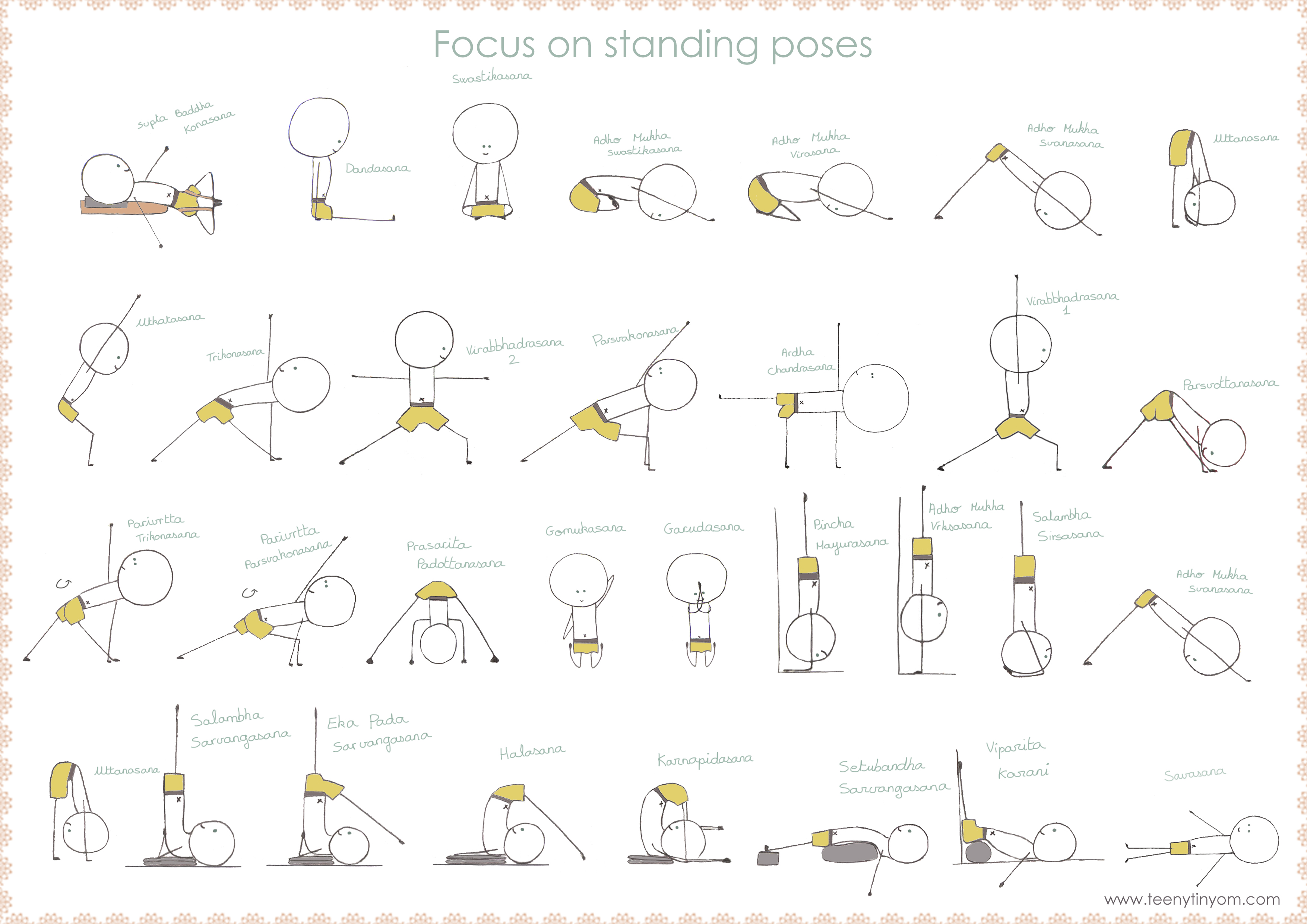 Chair yoga sequence - Yoga Sequence Teenytinyom